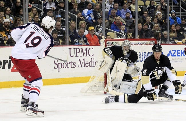 Pittsburgh Penguins vs. Columbus Blue Jackets - 3/1/15 NHL Pick, Odds, and Prediction