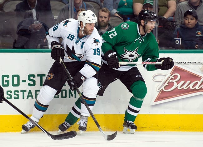 Dallas Stars vs. San Jose Sharks - 10/31/15 NHL Pick, Odds, and Prediction