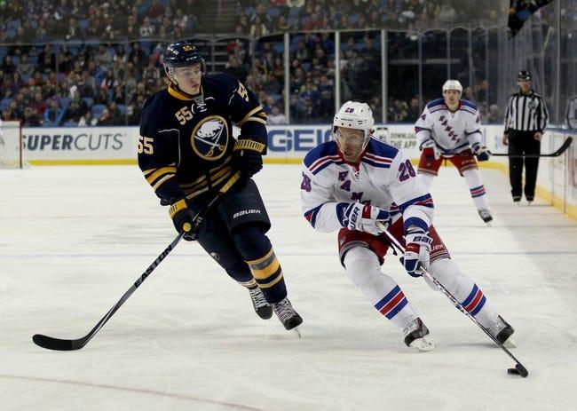 Sabres vs. Rangers - 3/14/15 NHL Pick, Odds, and Prediction