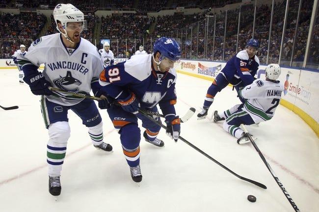 Islanders vs. Canucks - 1/17/16 NHL Pick, Odds, and Prediction