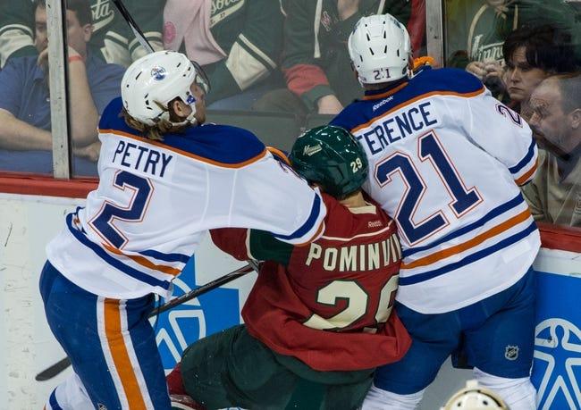 Minnesota Wild vs. Edmonton Oilers - 10/27/15 NHL Pick, Odds, and Prediction