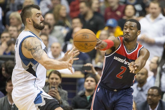Washington Wizards at Minnesota Timberwolves - 3/2/16 NBA Pick, Odds, and Prediction