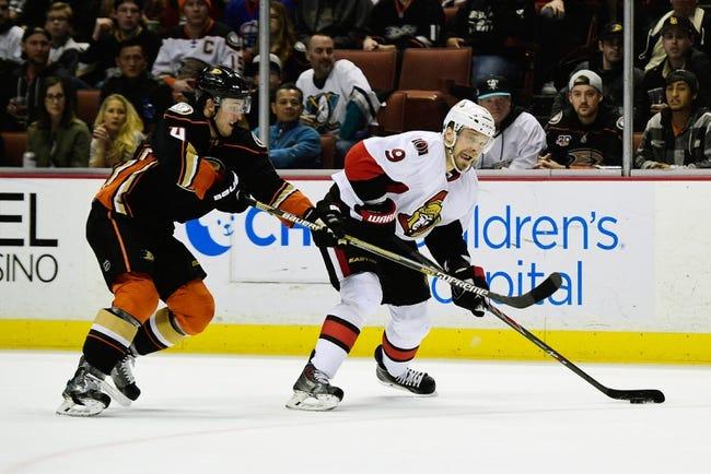 Anaheim Ducks vs. Ottawa Senators - 1/13/16 NHL Pick, Odds, and Prediction