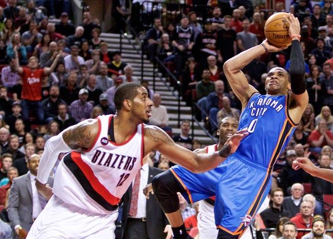 Trail Blazers at Thunder - 4/13/15 NBA Pick, Odds, and Prediction