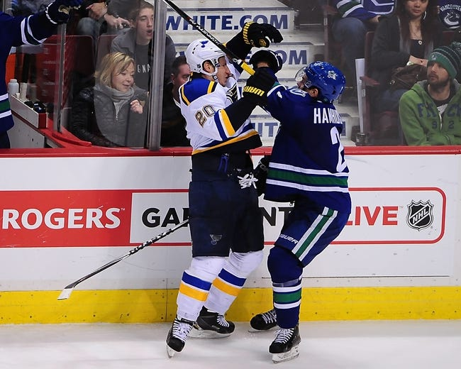 Blues vs. Canucks - 3/30/15 NHL Pick, Odds, and Prediction