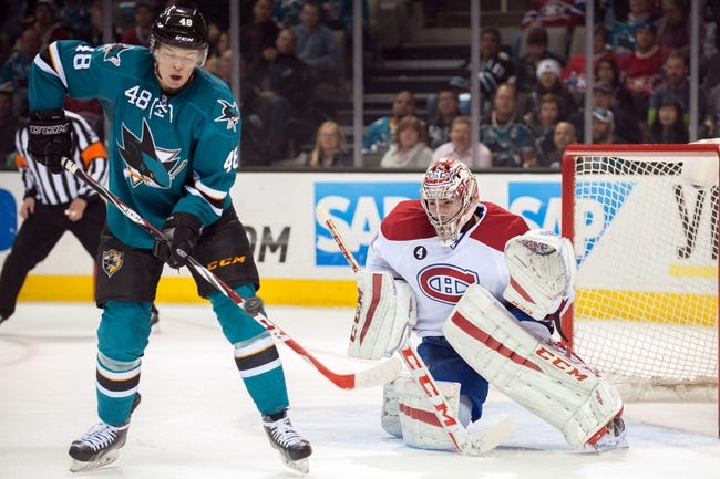 Montreal Canadiens vs. San Jose Sharks - 3/21/15 NHL Pick, Odds, and Prediction