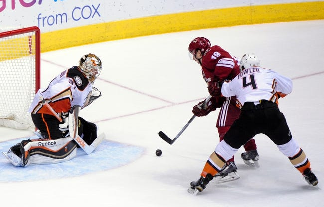 Arizona Coyotes vs. Anaheim Ducks - 4/11/15 NHL Pick, Odds, and Prediction