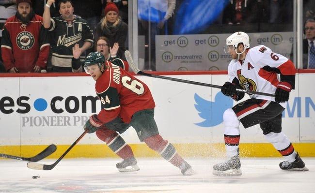Senators vs. Wild - 3/15/16 NHL Pick, Odds, and Prediction