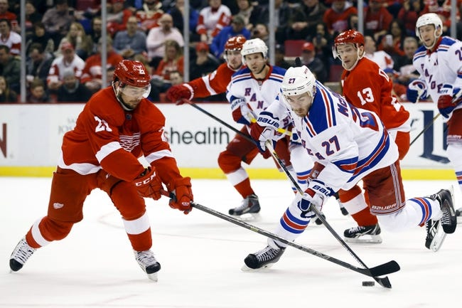 New York Rangers vs. Detroit Red Wings - 2/21/16 NHL Pick, Odds, and Prediction
