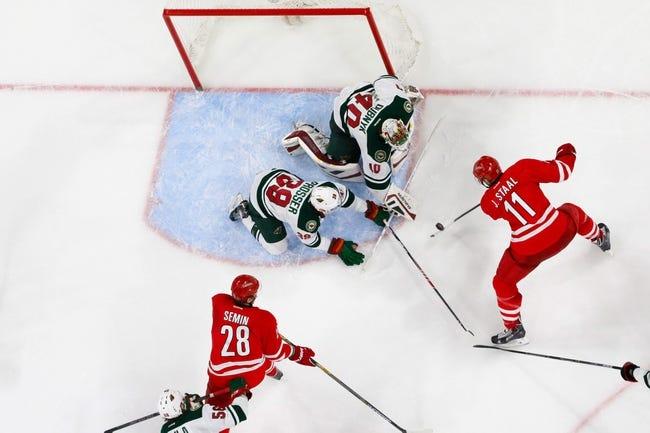 Carolina Hurricanes vs. Minnesota Wild - 11/12/15 NHL Pick, Odds, and Prediction