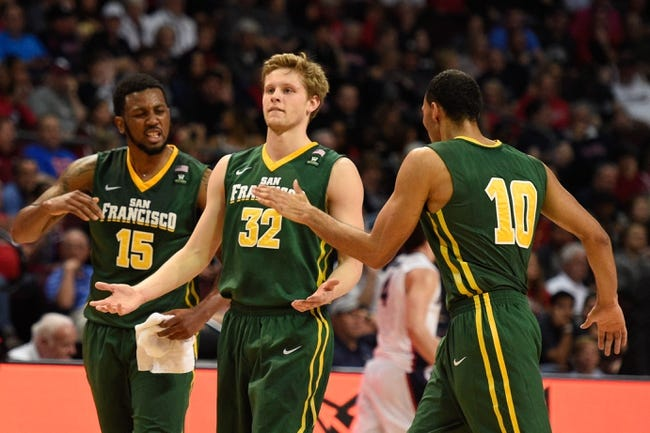 San Francisco Dons vs. Pepperdine Waves - 1/16/16 College Basketball Pick, Odds, and Prediction