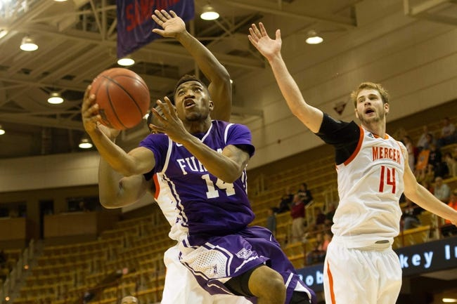 Mercer Bears vs. Furman Paladins - 1/14/16 College Basketball Pick, Odds, and Prediction