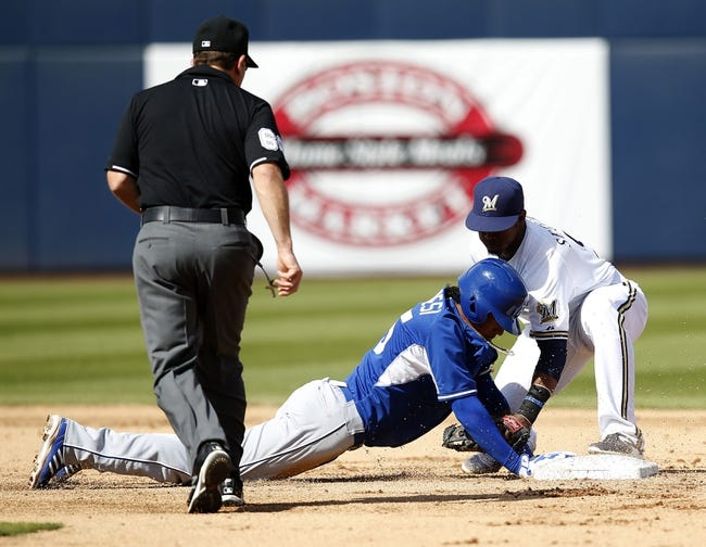 Milwaukee Brewers vs. Kansas City Royals - 6/15/15 MLB Pick, Odds, and Prediction