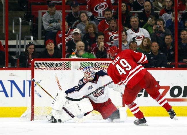 Carolina Hurricanes vs. Columbus Blue Jackets - 1/8/16 NHL Pick, Odds, and Prediction