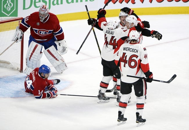 Senators at Canadiens - 4/15/15 NHL Pick, Odds, and Prediction