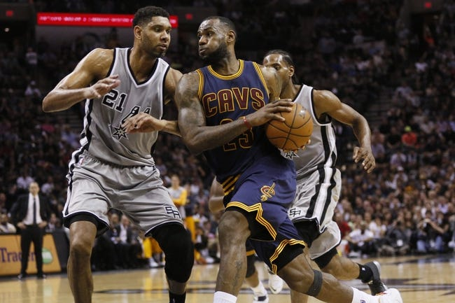 Cavaliers at Spurs - 1/14/16 NBA Pick, Odds, and Prediction