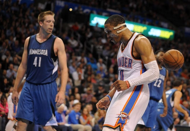 Minnesota Timberwolves vs. Oklahoma City Thunder - 4/15/15 NBA Pick, Odds, and Prediction