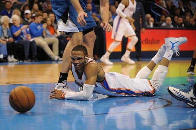 Thunder at Timberwolves - 4/15/15 NBA Pick, Odds, and Prediction