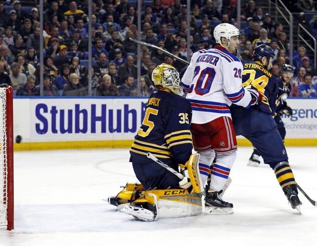 New York Rangers vs. Buffalo Sabres - 1/25/16 NHL Pick, Odds, and Prediction