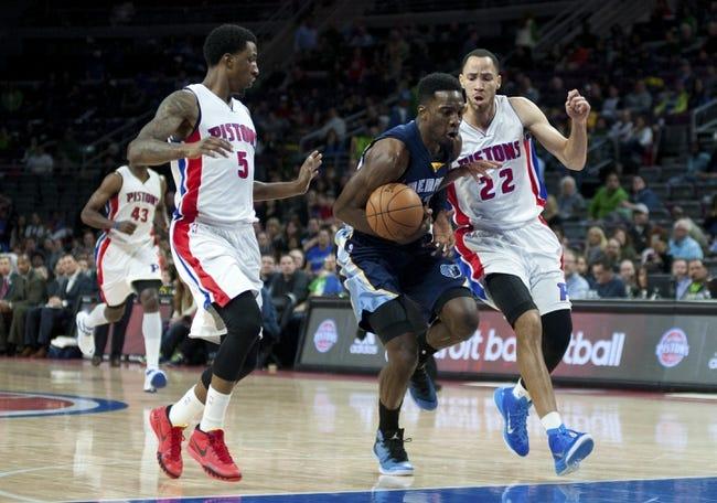 Detroit Pistons vs. Memphis Grizzlies - 12/9/15 NBA Pick, Odds, and Prediction