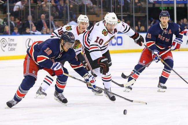 Rangers at Blackhawks - 10/7/15 NHL Pick, Odds, and Prediction