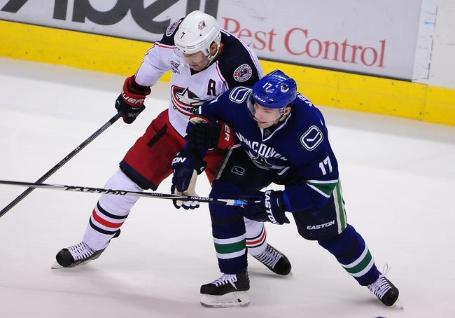 Columbus Blue Jackets vs. Vancouver Canucks - 11/10/15 NHL Pick, Odds, and Prediction