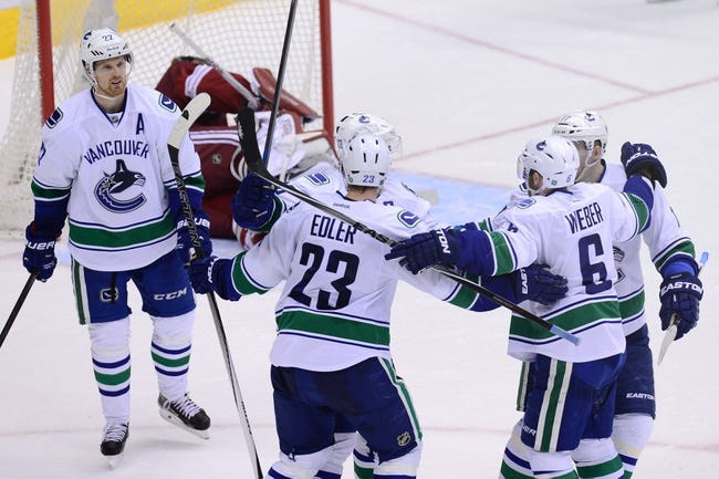 Vancouver Canucks vs. Arizona Coyotes - 4/9/15 NHL Pick, Odds, and Prediction