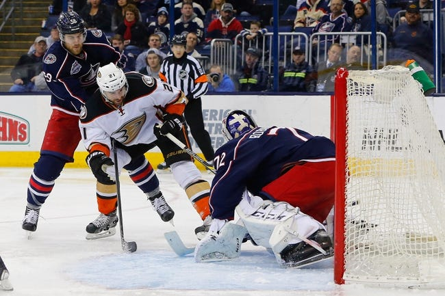 Anaheim Ducks vs. Columbus Blue Jackets - 11/6/15 NHL Pick, Odds, and Prediction