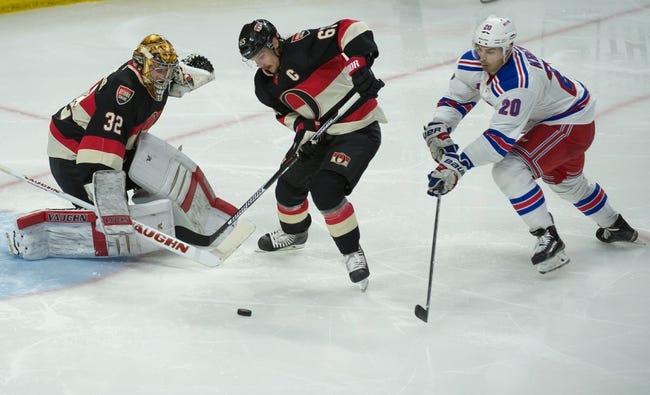 NHL | Ottawa Senators (41-26-13) at New York Rangers (52-21-7)