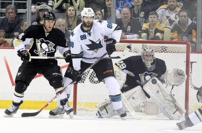 Pittsburgh Penguins vs. San Jose Sharks - 11/21/15 NHL Pick, Odds, and Prediction