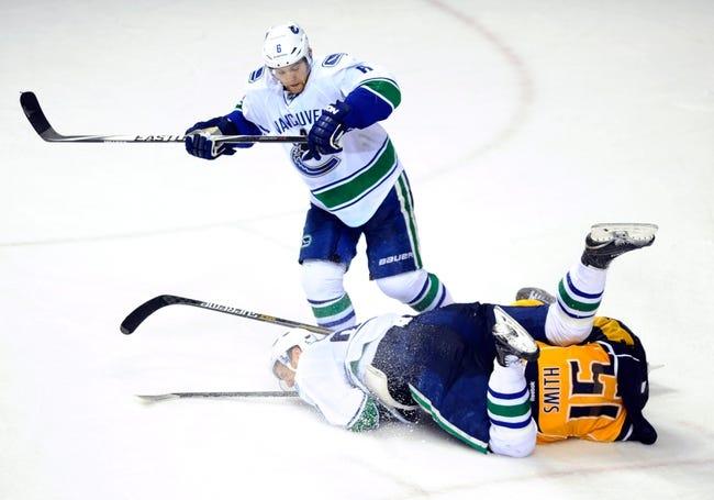 Canucks vs. Predators - 1/26/16 NHL Pick, Odds, and Prediction