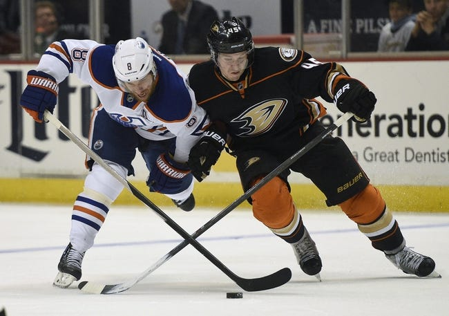 Anaheim Ducks vs. Edmonton Oilers - 11/11/15 NHL Pick, Odds, and Prediction