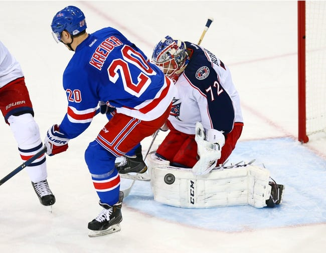 Rangers at Blue Jackets - 10/9/15 NHL Pick, Odds, and Prediction