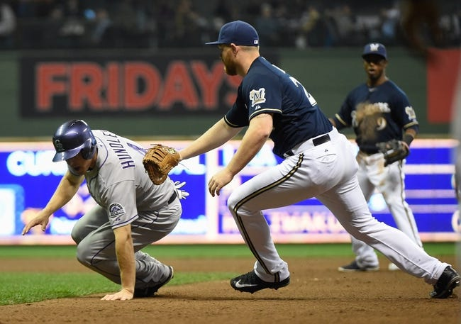 Colorado Rockies vs. Milwaukee Brewers - 6/19/15 MLB Pick, Odds, and Prediction
