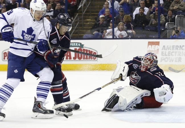 Maple Leafs at Blue Jackets - 10/16/15 NHL Pick, Odds, and Prediction