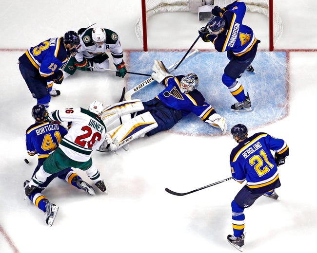 Minnesota Wild at St. Louis Blues - 4/16/15 NHL Pick, Odds, and Prediction