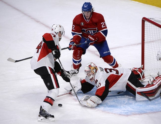 NHL | Ottawa Senators (43-26-13) at Montreal Canadiens (50-22-10)