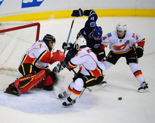 Calgary Flames  at Vancouver Canucks - 4/17/15 NHL Pick, Odds, and Prediction