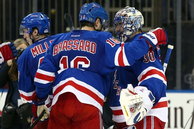 Pittsburgh Penguins at New York Rangers - 4/18/15 NHL Pick, Odds, and Prediction