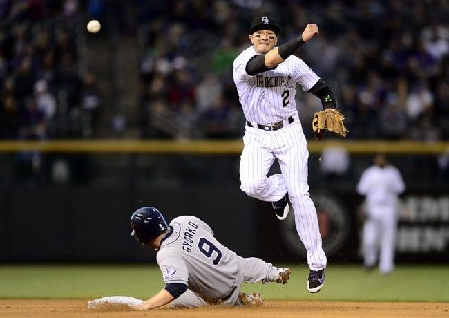 Rockies vs. Padres - 4/22/15 MLB Pick, Odds, and Prediction