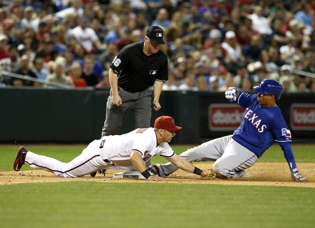 Diamondbacks vs. Rangers - 4/22/15 MLB Pick, Odds, and Prediction