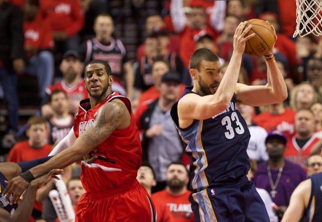 Portland Trail Blazers vs. Memphis Grizzlies - 4/27/15 NBA Pick, Odds, and Prediction