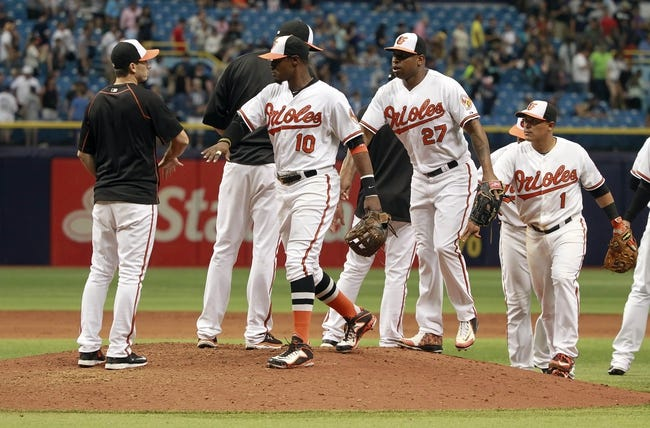 Baltimore Orioles vs. Tampa Bay Rays - 5/29/15 MLB Pick, Odds, and Prediction