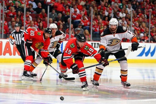 Chicago Blackhawks at Anaheim Ducks - 5/25/15 NHL Pick, Odds, and Prediction
