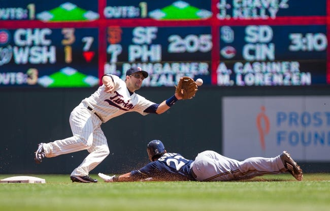Brewers at Twins - 6/7/15 MLB Pick, Odds, and Prediction