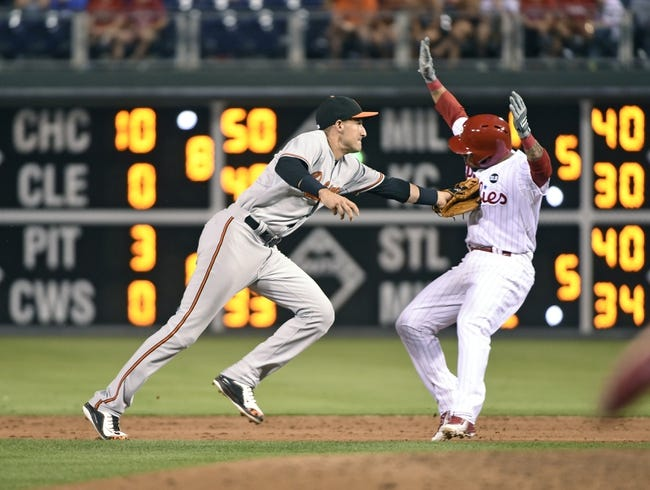 Philadelphia Phillies vs. Baltimore Orioles - 6/18/15 MLB Pick, Odds, and Prediction