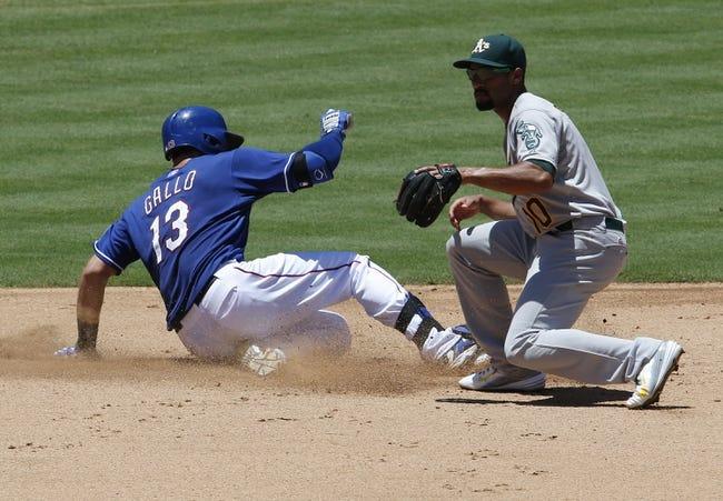 Rangers vs. Athletics - 9/11/15 MLB Pick, Odds, and Prediction