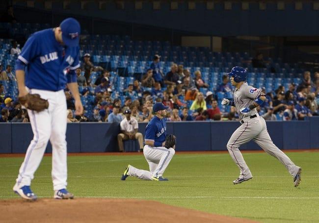 Blue Jays vs. Rangers - 6/28/15 MLB Pick, Odds, and Prediction