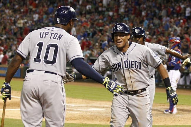 Texas Rangers vs. San Diego Padres - 7/12/15 MLB Pick, Odds, and Prediction