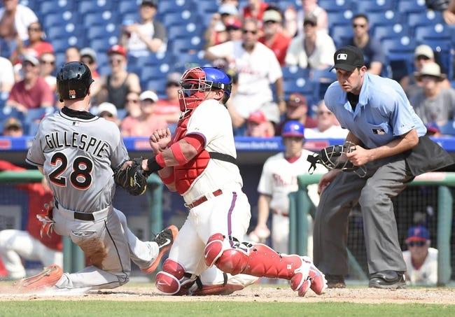 Miami Marlins vs. Philadelphia Phillies - 8/20/15 MLB Pick, Odds, and Prediction